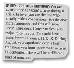 If July 17th is your birthday