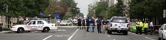 Police Cordon Off DC during Bomb Scare