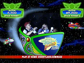 Jeff and family on Buzz Lightyear ride