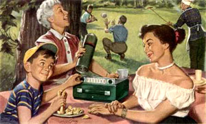 Family picnic from the 1950s