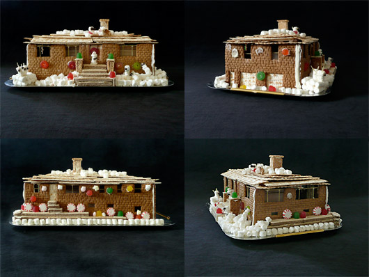 ranch style gingerbread house