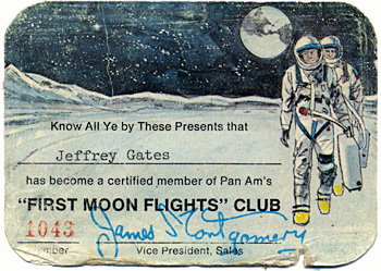 Pan Am Moon Club Card