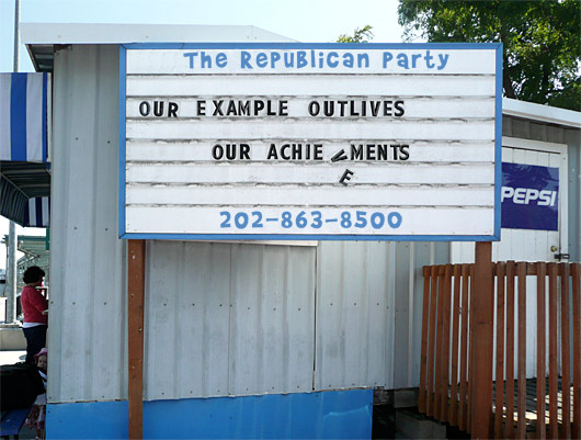 Republican Party: Our Example Outlives OUr Achievements