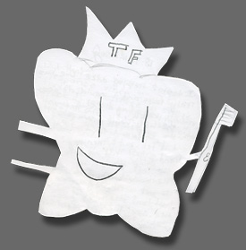 A tooth-shaped note to the Tooth Fairy